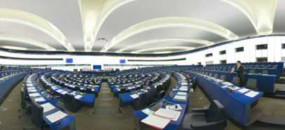 Hemicycle of European Parliament in Strasbourg