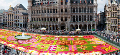 Flowers carpet in Brussels